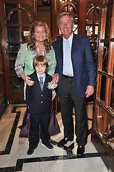 DES O'CONNOR, his wife JODIE and their son ADAM arrive at the press night of the new Andrew Lloyd Webber  musical 'The Wizard of Oz' at The London Palladium, Argylle Street, London on 1st March 2011 followed by an aftershow party at One Marylebone, London NW1