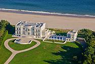 Mansion along the coast, aerial, New York, East Hampton, South Fork, Long Island, New York