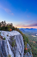 Cathedral Ledge at sunset over looking Conway, NH in the White Mountians.
