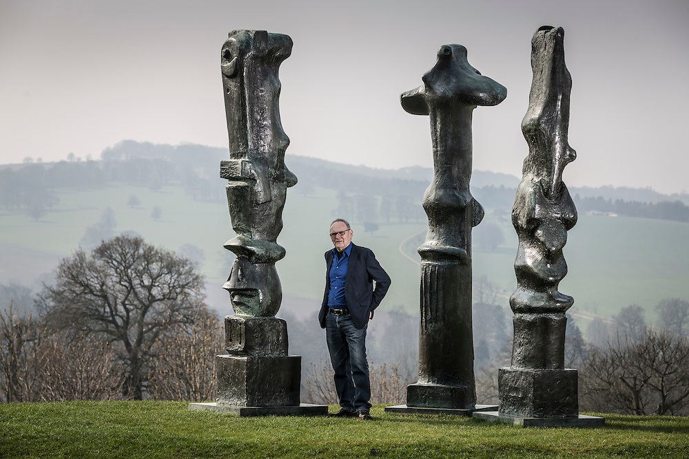 09/04/2015 Yorkshire Sculpture Park - Peter Murray Exec Director and Founder - Upright Motives by Henry Moore `1955/56