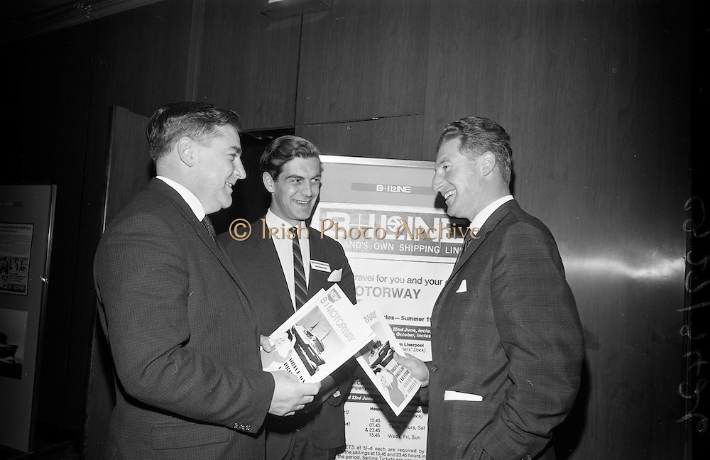 3/11/1967<br /> 11/3/1967<br /> 3 November 1967<br /> <br /> G.P. Harvey; John G.  Whittaker of Cork and Denis Foley chatting at the event
