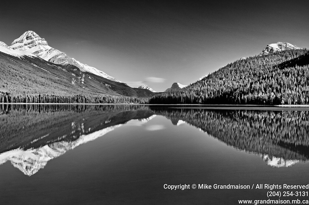 Icefields Parkway. Lower Waterfowl Lake. Mt. Weed at left. Banff National Park<br />Banff National Park<br />Alberta<br />Canada