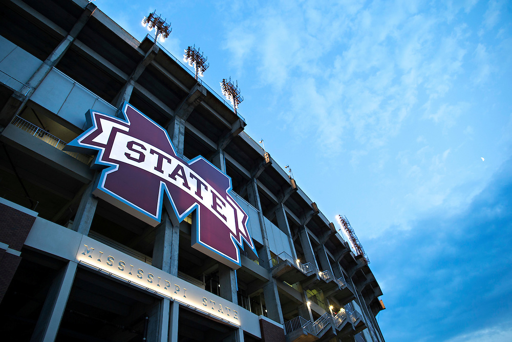 STARKVILLE, MS - SEPTEMBER 19:  Exterior of Davis Wade Stadium after a game between the Mississippi State Bulldogs and the Northwestern State Demons at Davis Wade Stadium on September 19, 2015 in Starkville, Mississippi.  The Bulldogs defeated the Demons 62-13.  (Photo by Wesley Hitt/Getty Images) *** Local Caption ***