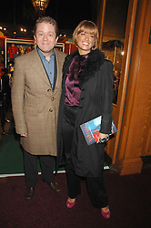 Impressionist JOHN CULSHAW and presenter CAROLINE FARADAY at the gala night of Varekai by Cirque du Soleil at The Royal Albert Hall, London on 8th January 2008.<br />
