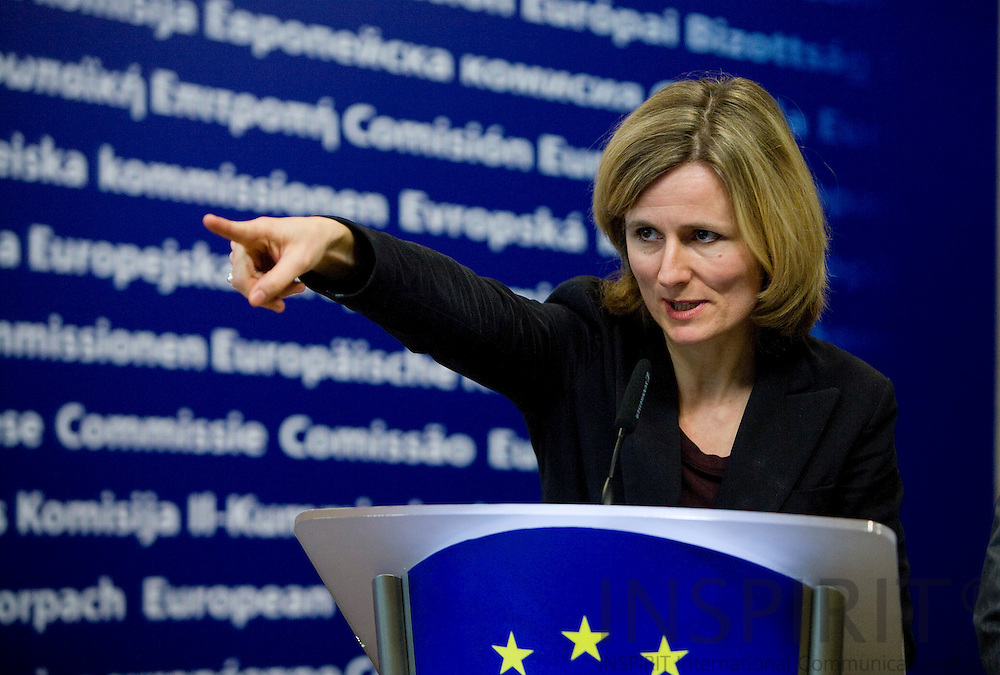 ARKIVFOTO ----– BRUSSELS - BELGIUM - 19 FEBRUARY 2008 -- Pia AHRENKILDE HANSEN, Deputy Spokeswoman at the Cabinet of the President of the European Commission  Photo: Erik Luntang