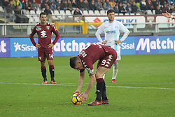 November 19, 2017 - Turin, Piedmont, Italy - Andrea Belotti (Torino FC) is preparing to kick the penalty during the Serie A football match between Torino FC and AC Chievo Verona at Olympic Grande Torino Stadium on 19 November, 2017 in Turin, Italy. (Credit Image: © Massimiliano Ferraro/NurPhoto via ZUMA Press)