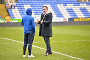 Sheffield Wednesday Manager Carlos Carvalhal and Sheffield Wednesday Midfielder Barry Bannan discuss tactics before the Sky Bet Championship match between Reading and Sheffield Wednesday at the Madejski Stadium, Reading, England on 23 January 2016. Photo by Adam Rivers.
