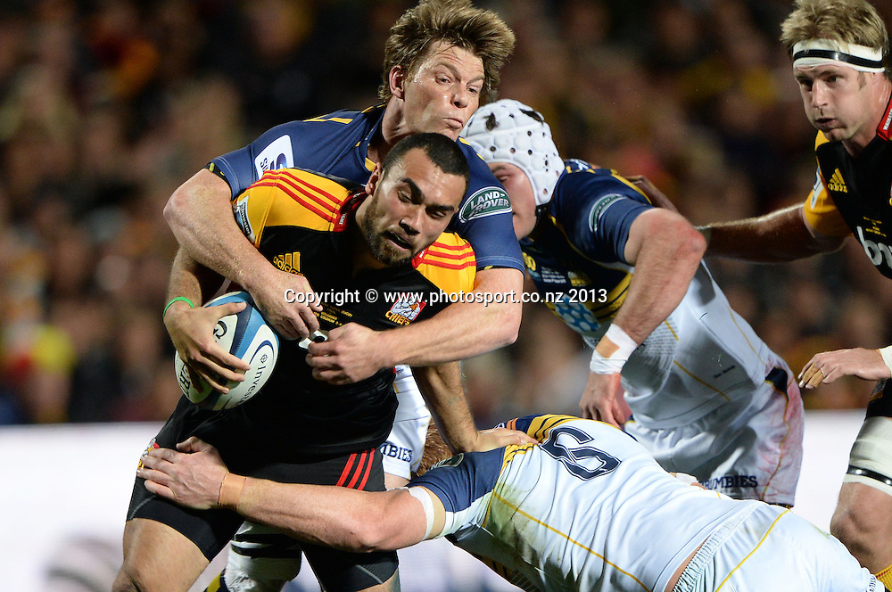 Charlie Ngati. Super Rugby Final. Chiefs v Brumbies. Waikato Stadium, Hamilton, New Zealand on Saturday 3 August 2013. Photo: Andrew Cornaga/www.Photosport.co.nz