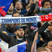 PARIS, FRANCE - March 25:  French fans supporting their team during the France V Iceland, 2020 European Championship Qualifying, Group Stage at  Stade de France on March 25th 2019 in Paris, France (Photo by Tim Clayton/Corbis via Getty Images)
