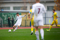 David Tijanic of Triglav during football match between NK Domzale and NK Triglav in Round #18 of Prva liga Telekom Slovenije 2019/20, on November 23, 2019 in Sports park Domzale, Slovenia. Photo by Sinisa Kanizaj / Sportida