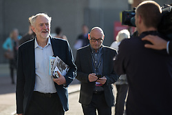 © Licensed to London News Pictures . 30/09/2015 . Brighton , UK . Labour Party Leader JEREMY CORBYN outside the conference venue this morning ( Wednesday 30th September 2015 ) . The 2015 Labour Party Conference . Photo credit : Joel Goodman/LNP