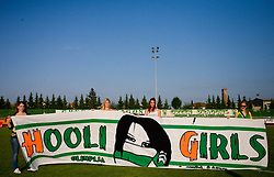 Fans of Olimpija Hooli Girls of Green Dragons at final match of 2nd SNL league between NK Olimpija in NK Aluminij, on May 23, 2009, ZAK, Ljubljana, Slovenia. Aluminij won 2:1. NK Olimpija is a Champion of 2nd SNL and thus qualified to 1st Slovenian football league for season 2009/2010. (Photo by Vid Ponikvar / Sportida)