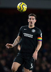 LONDON, ENGLAND - Thursday, December 5, 2019: Brighton & Hove Albion's captain Lewis Dunk wearing a rainbow coloured armband during the FA Premier League match between Arsenal FC and Brighton & Hove Albion FC at the Emirates Stadium. (Pic by Vegard Grott/Propaganda)