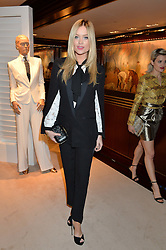LAURA WHITMORE at a party to celebrate the publication of Front Roe by Louise Roe held at Ralph Lauren, 1 New Bond Street, London on 1st April 2015.