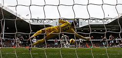 West Ham's Adrian saves a penalty from Tottenham Hotspur's Harry Kane - Photo mandatory by-line: Mitchell Gunn/JMP - Mobile: 07966 386802 - 22/02/2015 - SPORT - football - London - White Hart Lane - Tottenham Hotspur v West Ham United - Barclays Premier League