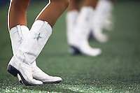 Dallas Cowboys cheerleaders cheer during the Green Bay Packers against the Dallas Cowboys during a NFL game in Dallas, Texas Sunday, December, 15, 2013. (AP Photo/Tom Hauck)