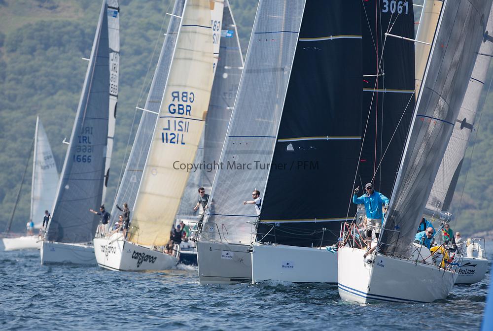 Silvers Marine Scottish Series 2017<br /> Tarbert Loch Fyne - Sailing<br /> <br /> RC35 Start