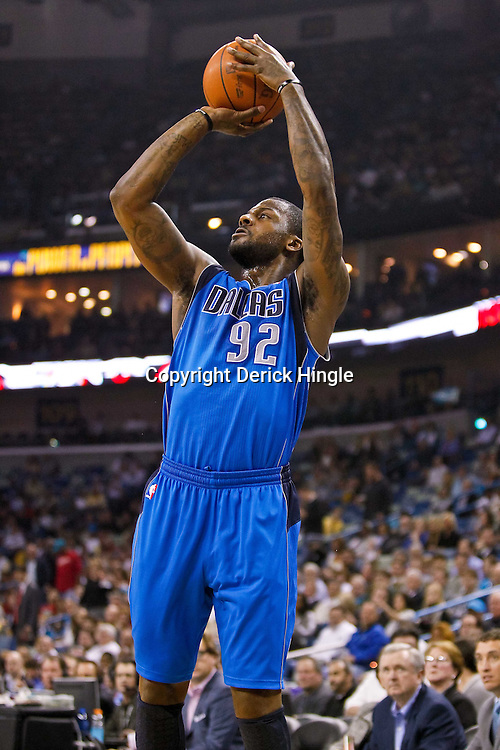 November 17, 2010; New Orleans, LA, USA; Dallas Mavericks shooting guard DeShawn Stevenson (92) shoots a three pointer during the first quarter against the New Orleans Hornets at the New Orleans Arena. Mandatory Credit: Derick E. Hingle