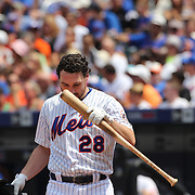 Daniel Murphy, New York Mets, batting during the New York Mets Vs Pittsburgh Pirates MLB regular season baseball game at Citi Field, Queens, New York. USA. 16th August 2015. Photo Tim Clayton
