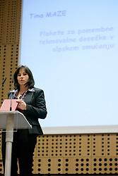 Sonja Maze, mother of Tina Maze at 45th Awards of Stanko Bloudek for sports achievements in Slovenia in year 2009, on February 9, 2010, Brdo pri Kranju, Slovenia.  (Photo by Vid Ponikvar / Sportida)