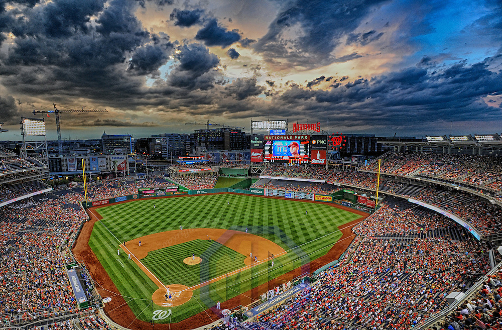 28 June 2016:  A 21 frame High Dynamic Range (HDR) image of Nationals Park in Washington, D.C. during the game between the New York Mets and the Washington Nationals.  (Photograph by Mark Goldman/Icon Sportswire)