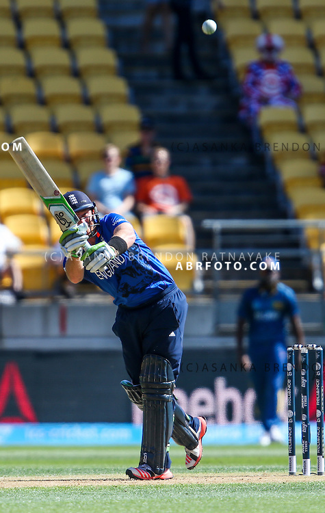 Ian Bell batting during the 2015 ICC Cricket World Cup Pool A group match between England Vs Sri Lanka at the Wellington Regional Stadium, Wellington, New Zealand.
