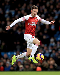 Arsenal's Aaron Ramsey in action