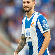 BARCELONA, SPAIN - August 18:  Facundo Ferreyra #9 of Espanyol during the Espanyol V  Sevilla FC, La Liga regular season match at RCDE Stadium on August 18th 2019 in Barcelona, Spain. (Photo by Tim Clayton/Corbis via Getty Images)