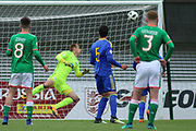 Troy Parrot of Republic of Ireland (10) scores a brilliant freekick during the UEFA European Under 17 Championship 2018 match between Bosnia and Republic of Ireland at Stadion Bilino Polje, Zenica, Bosnia and Herzegovina on 11 May 2018. Picture by Mick Haynes.