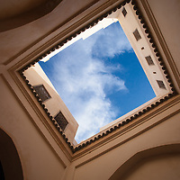 Blue Moroccan sky in Fez.