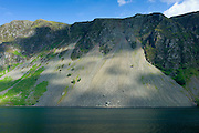 Wast Water scree-covered slope by Wastwater lake in the Lake District National Park, Cumbria, UK