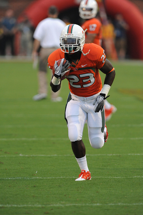 2011 Miami Hurricanes Football @ Maryland<br /> <br /> Eduardo Clements