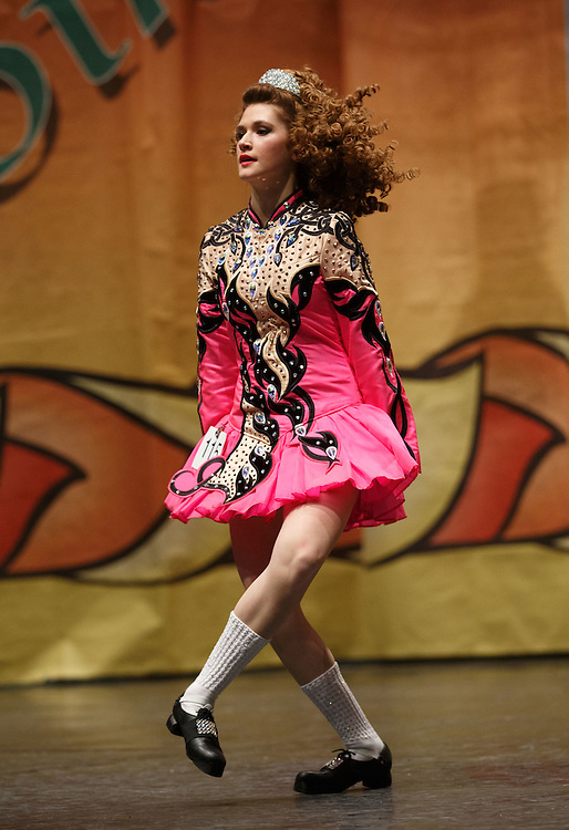 "Belgian Irish Dancer Alicia Bellemans, on the the stage. She got to Glasgow for The 46th annual World Irish Dancing Championships at the Glasgow Royal Concert Hall from March 20th- 27th 2016. From Brussels she is the first Belgian to have qualified for the Championships and were not letting the terrorist  attack and airport closures and transport problems beat them to fulfil their passion to compete at Irish Dancing. Alicia said "" We have to do what we love. We won't stop, they won't stop our passion for Irish dancing, we are afraid, but we fight"". Alicia had to be in Glasgow for her dance slot at 12.30. She has been on the move since 2am and finally got here via Amsterdam.  Picture Robert Perry 23rd March 2016<br /> <br /> Must credit photo to Robert Perry<br /> FEE PAYABLE FOR REPRO USE<br /> FEE PAYABLE FOR ALL INTERNET USE<br /> www.robertperry.co.uk<br /> NB -This image is not to be distributed without the prior consent of the copyright holder.<br /> in using this image you agree to abide by terms and conditions as stated in this caption.<br /> All monies payable to Robert Perry<br /> <br /> (PLEASE DO NOT REMOVE THIS CAPTION)<br /> This image is intended for Editorial use (e.g. news). Any commercial or promotional use requires additional clearance. <br /> Copyright 2014 All rights protected.<br /> first use only<br /> contact details<br /> Robert Perry     <br /> 07702 631 477<br /> robertperryphotos@gmail.com<br /> no internet usage without prior consent.         <br /> Robert Perry reserves the right to pursue unauthorised use of this image . If you violate my intellectual property you may be liable for  damages, loss of income, and profits you derive from the use of this image."