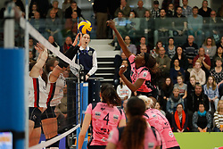 20180110 NED: CEV CUP Sliedrecht Sport - Beziers Angels VB: Sliedrecht<br />Krystal Rivers (13) of Beziers VB<br />&copy;2018-FotoHoogendoorn.nl / Pim Waslander