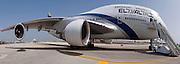 Israel, Ben-Gurion international Airport El-Al Boeing 747-400 passenger jet