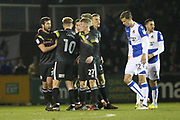 GOAL Ian Henderson celebrates his goal during the EFL Sky Bet League 1 match between Bristol Rovers and Rochdale at the Memorial Stadium, Bristol, England on 13 February 2018. Picture by Daniel Youngs.