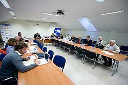Predstavniki SZS na prvem sestanku novega Izvrsilnega odbora Smucarske zveze Slovenije po volilni skupscini, April 12, 2010, SZS, Podutiska cesta, Ljubljana, Slovenia.  (Photo by Vid Ponikvar / Sportida)