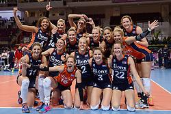 07-01-2016 TUR: European Olympic Qualification Tournament Nederland - Kroatie, Ankara<br /> Nederland verslaat Kroatië met 3-0 en gaat als groepswinnaar de halve finale in / Nederland dolblij met de winst