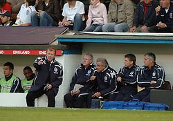 England Manager STEVE McCLAREN, and Terry Venebles, England B-Albania, International Friendly,  Turf Moor Ground Burnley, 25/5/2005 Score 3-1