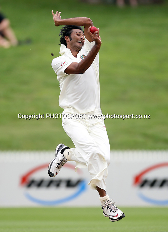 Shahadat Hossain bowling for Bangladesh.<br />