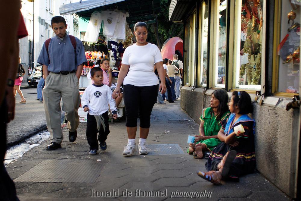 people walking in central San Jose.