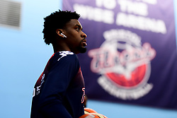 Levi Bradley of Bristol Flyers warms up prior to tip off - Photo mandatory by-line: Ryan Hiscott/JMP - 06/12/2019 - BASKETBALL - SGS Wise Arena - Bristol, England - Bristol Flyers v Sheffield Sharks - British Basketball League Championship