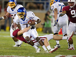 September 19, 2009; Stanford, CA, USA;  Stanford Cardinal defensive end Chase Thomas (93) sacks San Jose State State quarterback Kyle Reed (7) in the fourth quarter of the game at Stanford Stadium. Stanford defeated San Jose State 42-17.