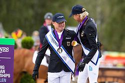 Individual Podium, Klimke Ingrid, GER, Jung Michael, GER<br /> European Championship Eventing<br /> Luhmuhlen 2019<br /> © Hippo Foto - Dirk Caremans
