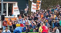 BLOEMENDAAL - HOCKEY - Bloemigans, supporters van Bloemendaal, tijdens de kwartfinale van de EHL (Euro Hockey League) wedstrijd tussen de mannen van Bloemendaal  en KHC Dragons (Belgie)) (4-3). FOTO KOEN SUYK