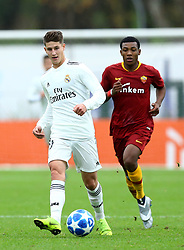 November 27, 2018 - Rome, Italy - AS Roma - FC Real Madrid : UEFA Youth League Group G .Miguel Baeza of Real Madrid in action at Tre Fontane Stadium in Rome, Italy on November 27, 2018. (Credit Image: © Matteo Ciambelli/NurPhoto via ZUMA Press)
