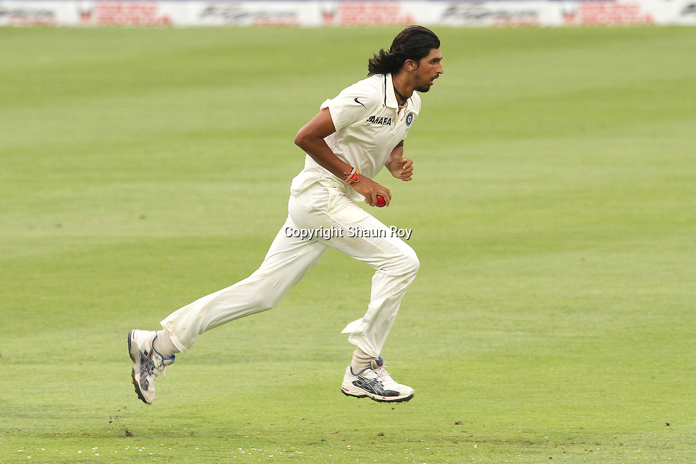 CAPE TOWN, SOUTH AFRICA - 2 January 2011, Ishant Sharma of India runs in to bowl during day 1 of the 3rd Castle Test between South Africa and India held at Sahara Park Newlands Stadium in Cape Town, South Africa on the 2 January 2011 .Photo by: Shaun Roy