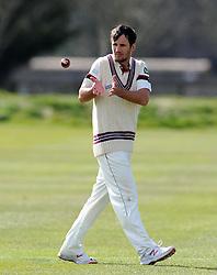 Somerset's Lewis Gregory - Photo mandatory by-line: Harry Trump/JMP - Mobile: 07966 386802 - 24/03/15 - SPORT - CRICKET - Pre Season Fixture - Day 2 - Somerset v Glamorgan - Taunton Vale Cricket Club, Somerset, England.
