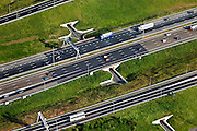 Nederland, Zuid-Holland, Den Haag, 23-05-2011; prins Clausplein fietstunnels naar Leidschenveen.Bicycle  tunnel under the motorway A12 to The Hague..luchtfoto (toeslag), aerial photo (additional fee required).copyright foto/photo Siebe Swart