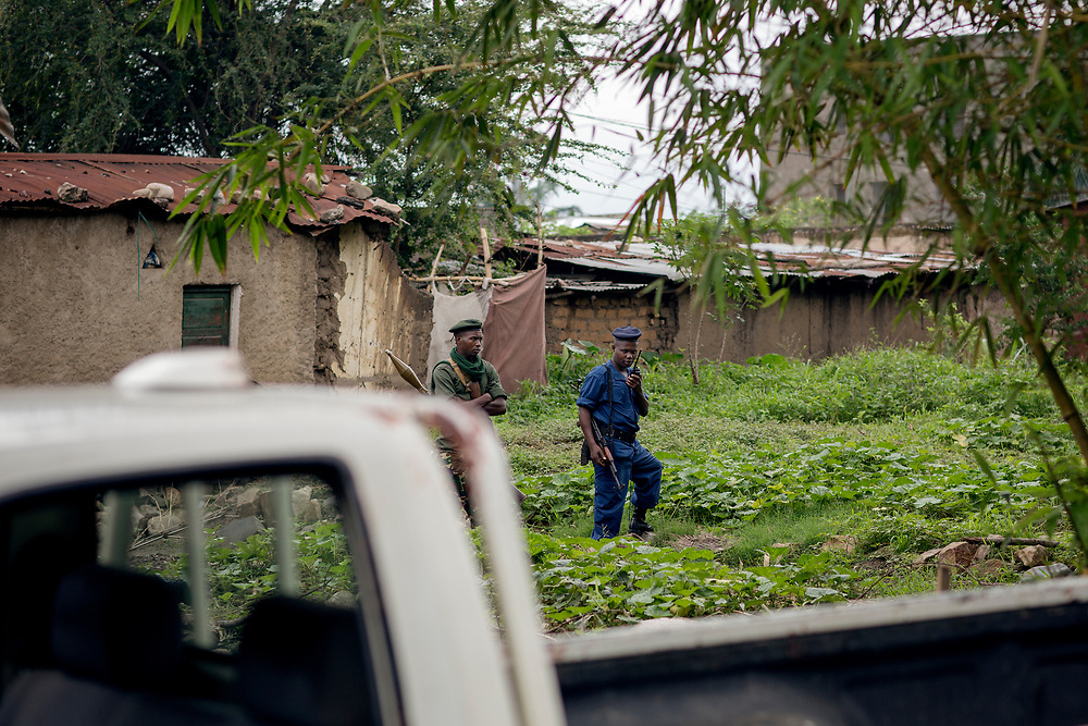Burundu/Bujumbura 2015-10-30<br /> Police patrol the neighborhoods in the outskirts of Bujumbura